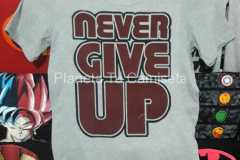 CAMISETA PERSONALIZADA NEVER GIVE UP